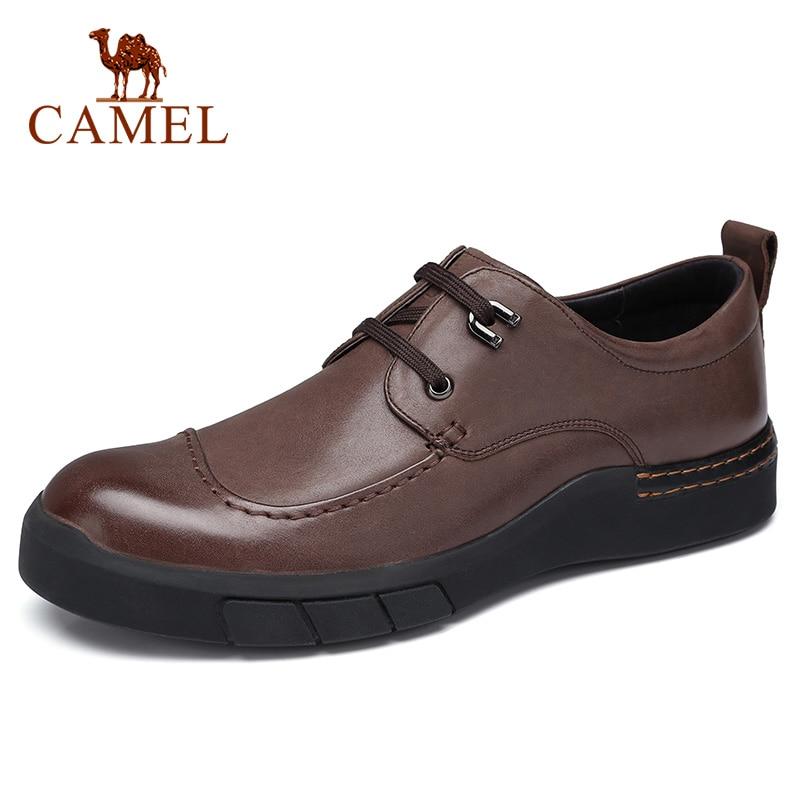 CAMEL/Мужская обувь; сезон осень; удобная мужская повседневная обувь из натуральной кожи; британский джентльмен; восковая воловья кожа; элегантные лоферы