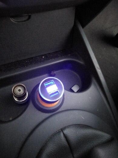 Chargeur de voiture universel à affichage LED 3.1A, double USB, pour iphone