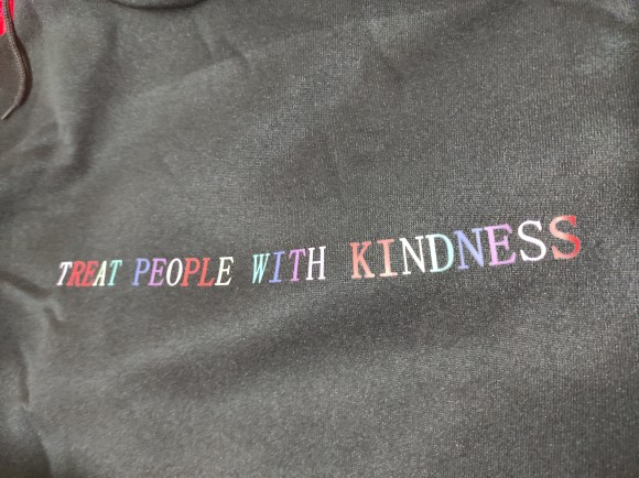 E-girl Harajuku  Soft girl Hoodeds with the inscription Treat People with Kindness photo review