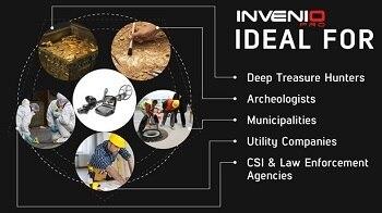 إنفينيو القياسية المهنية البحث شاشة الكريستال السائل حساسية عالية عالية عمق الكنز هنتر الذهب تحت الأرض للكشف عن المعادن 6