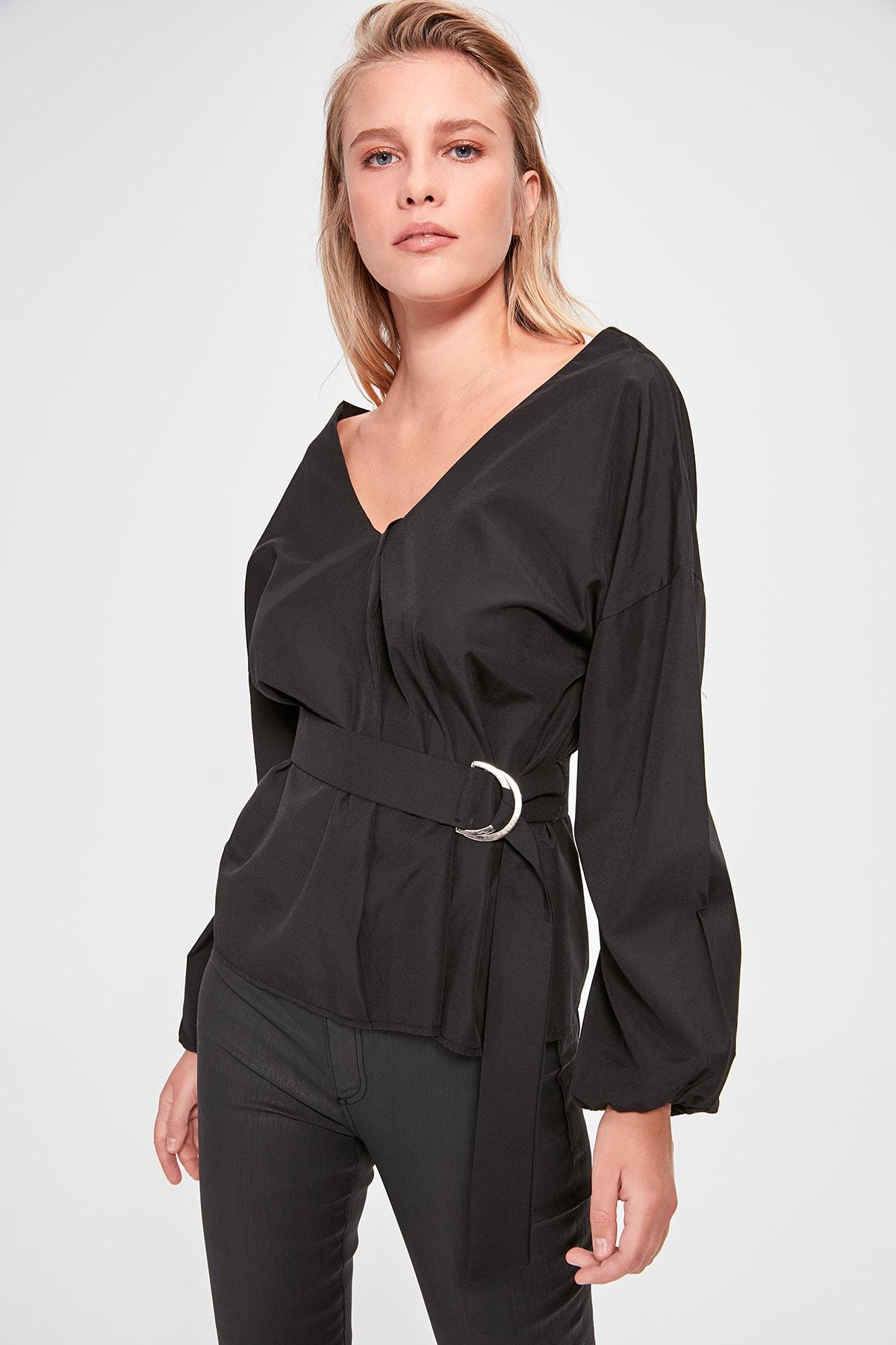 Trendyol Lacing Detailed Bluz TWOAW20BZ0616