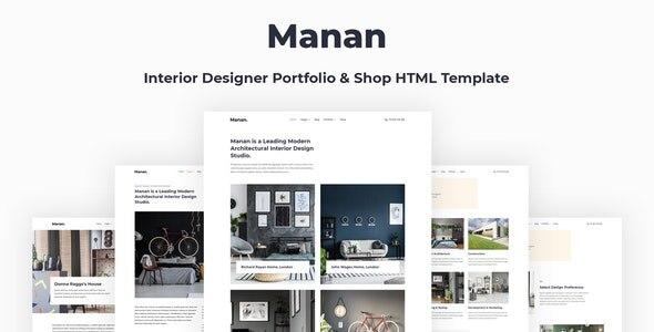 Manan – 室内装饰设计师网站HTML模板
