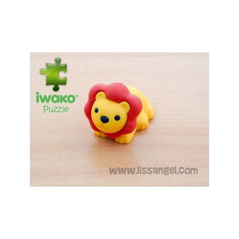 Puzzle IWAKO Eraser - Lion