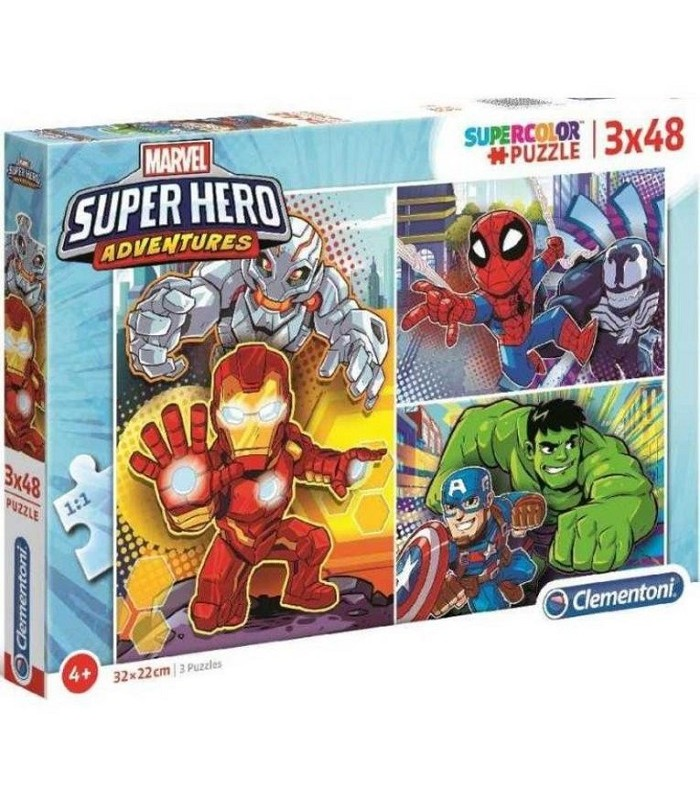 PUZZLE SUPERHEROES 3X48