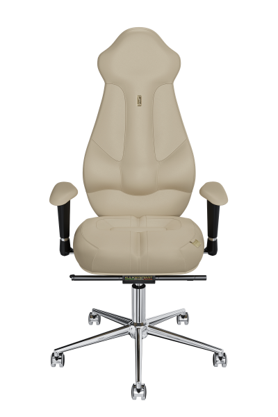 Office Chair KULIK SYSTEM IMPERIAL Beige Computer Chair Relief And Comfort For The Back 5 Zones Control Spine