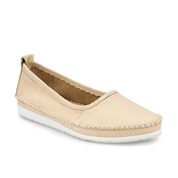 FLO 103087 Z beżowe buty damskie Polaris tanie i dobre opinie Trzciny