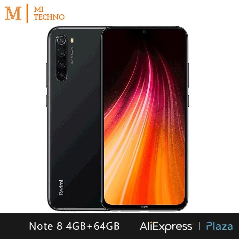 Smartphone Xiaomi Redmi Note 8 (telefono Movil 4GB RAM 64GB ROM Libre Nuevo Barato Android Batería 4000mAh) [Versión Global]