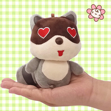 10cm Cartoon Animals Raccoon Plush Toy Pendant Stuffed Teddy Bear Dolls Key Ring Cute Kawaill Bag Decor Kids Children Gift