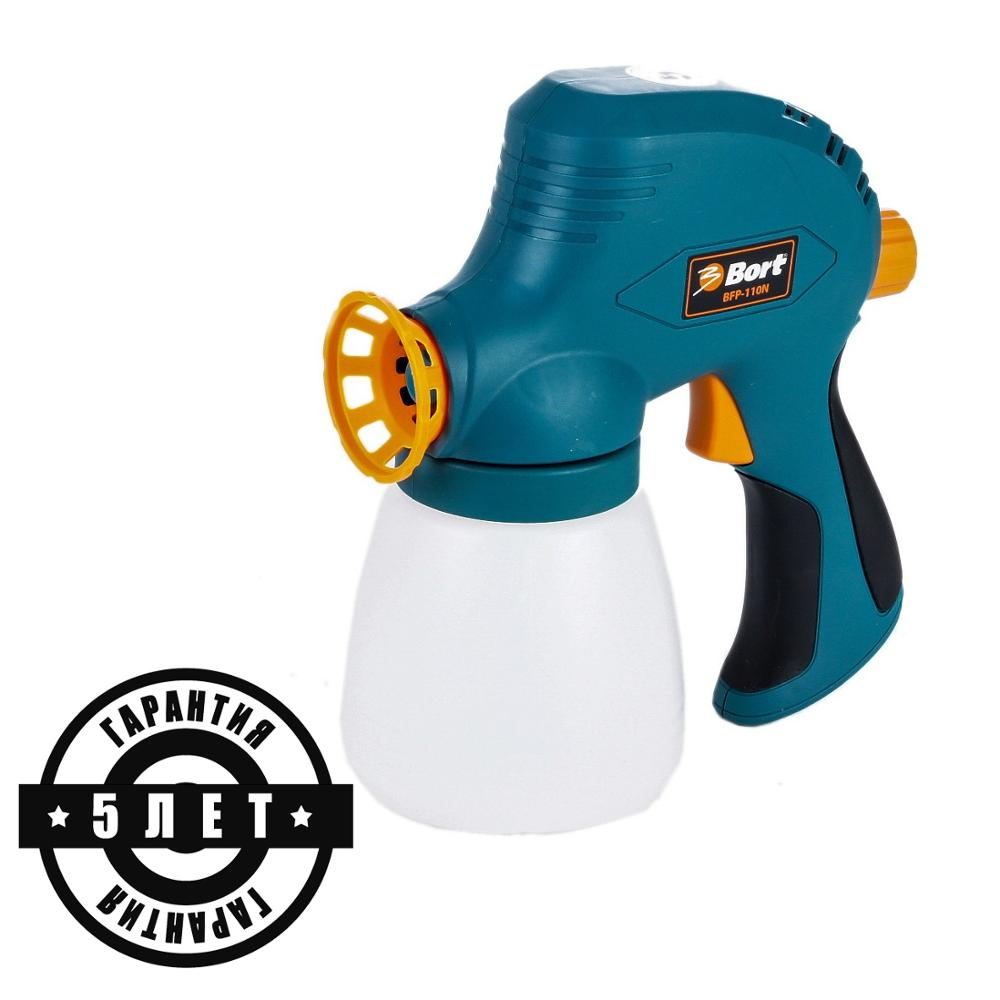 Bort Spray Gun High Power Home Electric Paint Sprayer Nozzle Easy Spraying Professional Air Spray Gravity Feed Airbrush Kit HVLP цена и фото