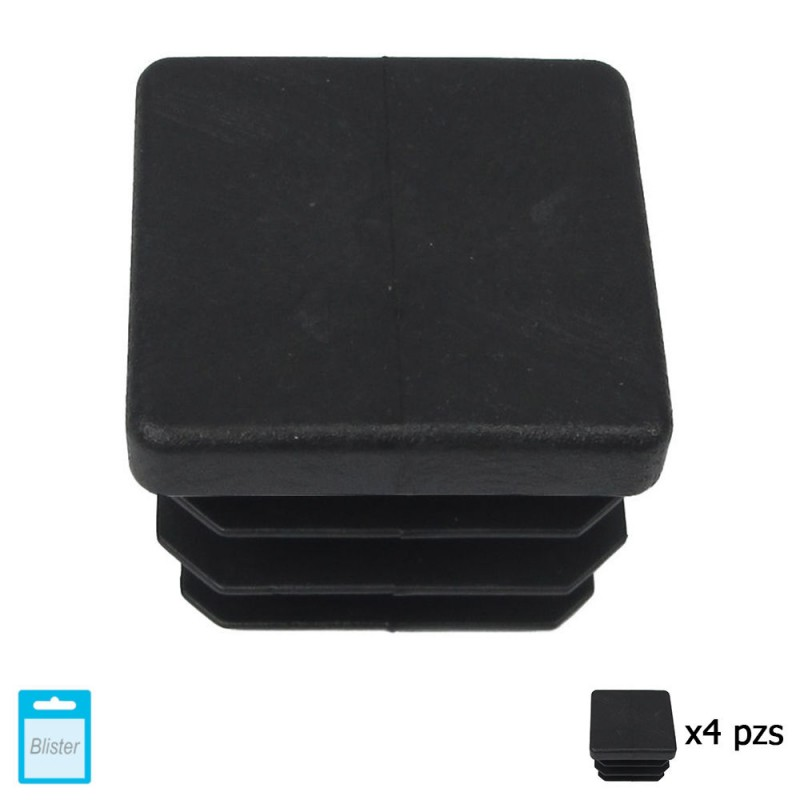 Cone Square Black 30x30mm. Blister 4 PCs.