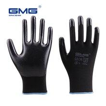 12 par rękawice dla mechaników GMG czarny czerwony biały poliester czarny szary nitrylowe rękawice ochronne rękawiczki do pracy