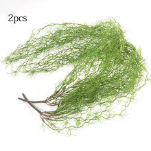 85cm Artifical Plants Plastic Hanging Air Vine Wedding Home Decoration Green Plant Leaves Garden Artificial Grass Fake