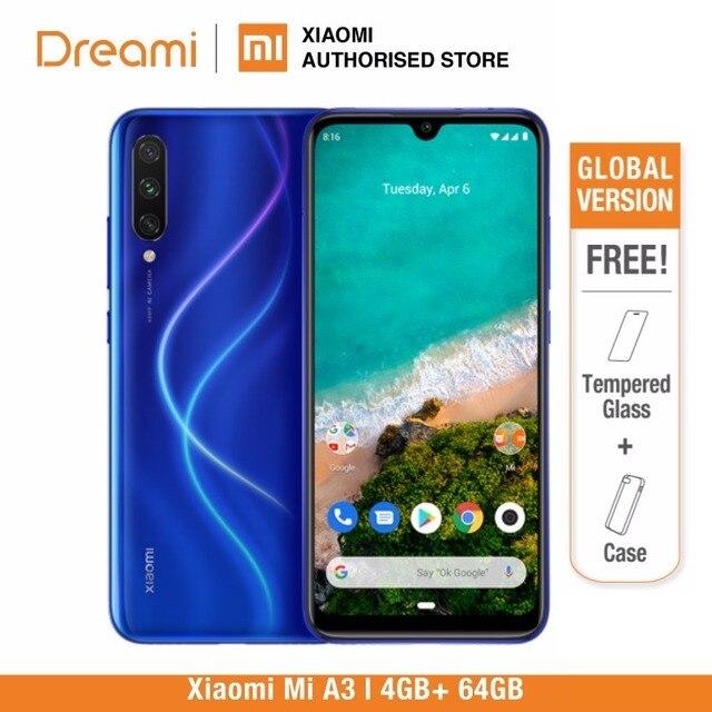 النسخة العالمية شياو Xiaomi mi A3 64GB ROM 4GB RAM (الرسمية) mi a364gb