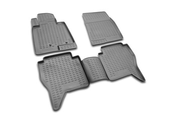 Floor mats for Mitsubishi Pajero IV(V80)2006- car interior protection floor from dirt guard car styling tuning decoration