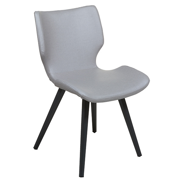 Dining Chair Polyskin Metal Grey (45 X 51 X 80 Cm)