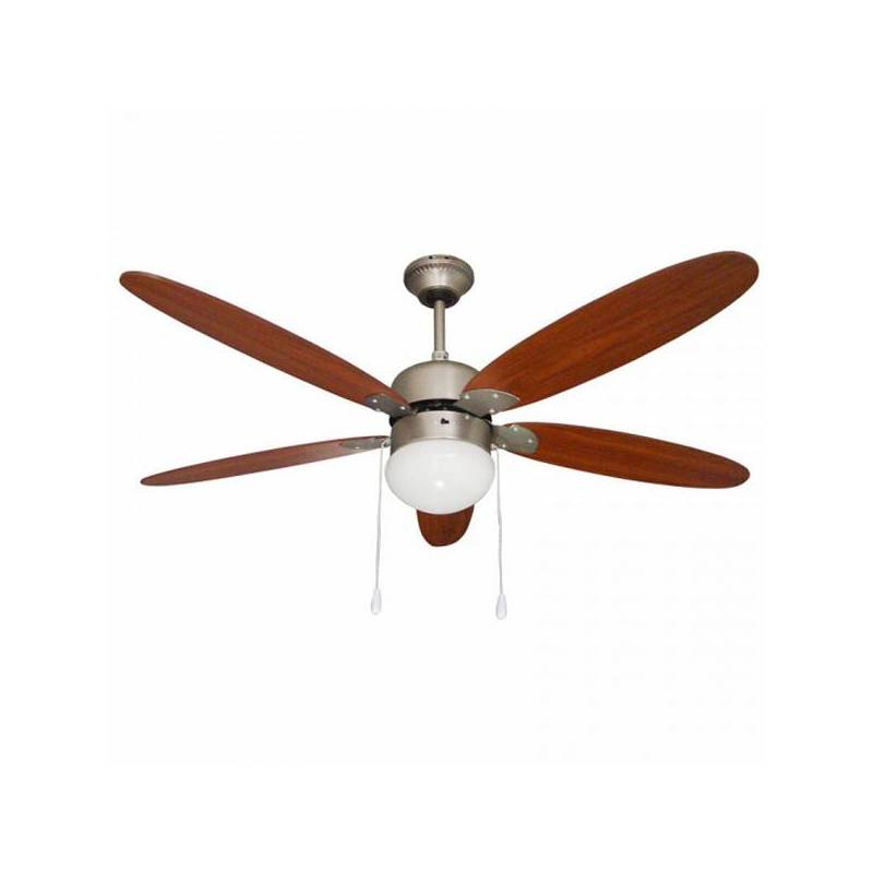 Ceiling Fan With Light Paeamer VCP52M 60W Antique Brass Wood