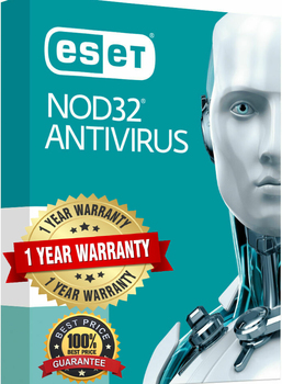 -ESET Nod32 antivirus- 1 year license key worldwide activation image