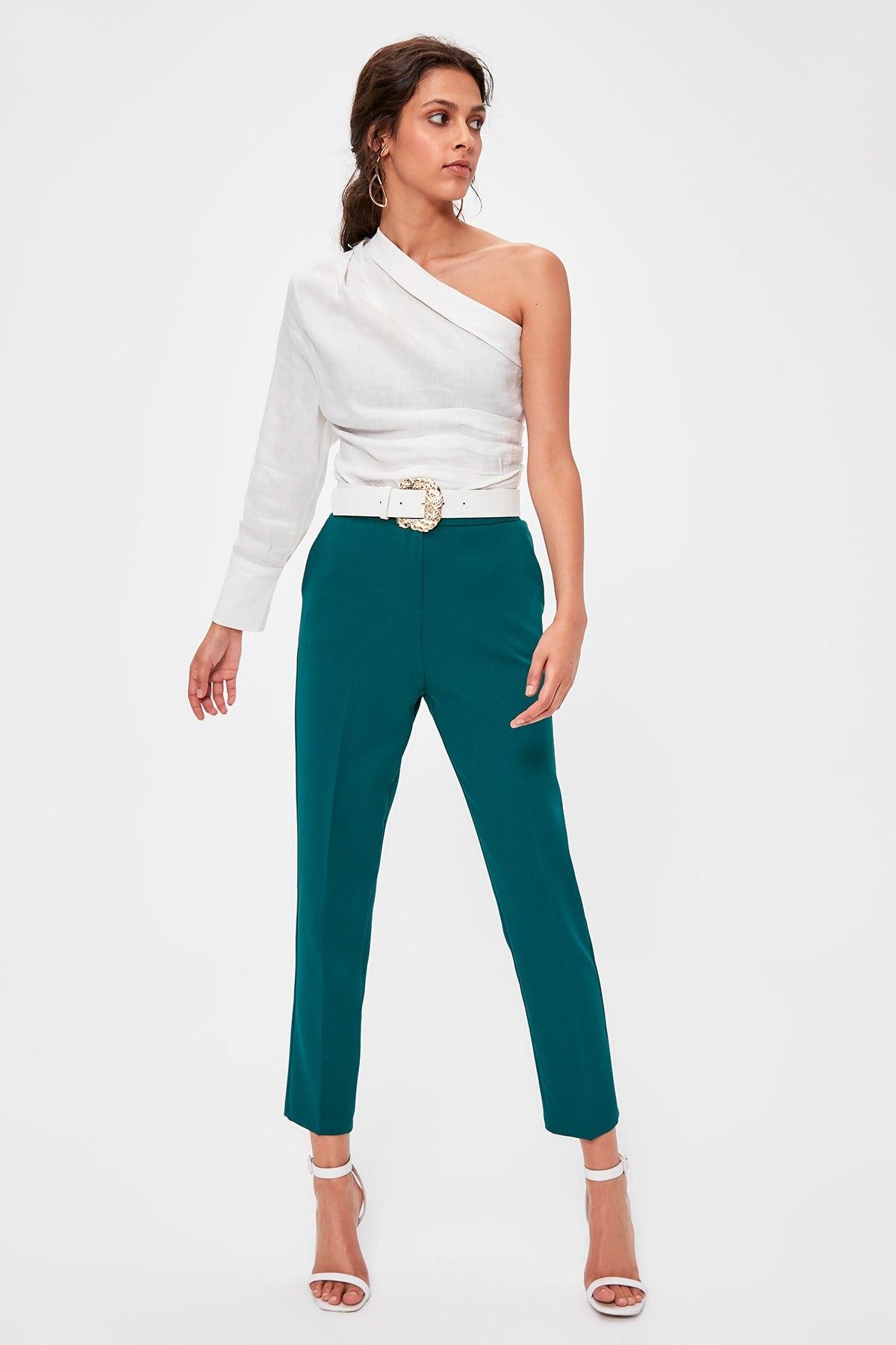 Trendyol Green Basic Pants TWOAW20PL0322