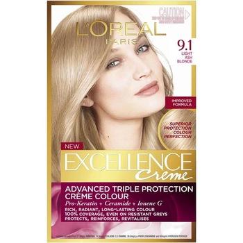 Loreal Excellence farba do włosów 9 1 jasny popiół żółty 247233612 tanie i dobre opinie