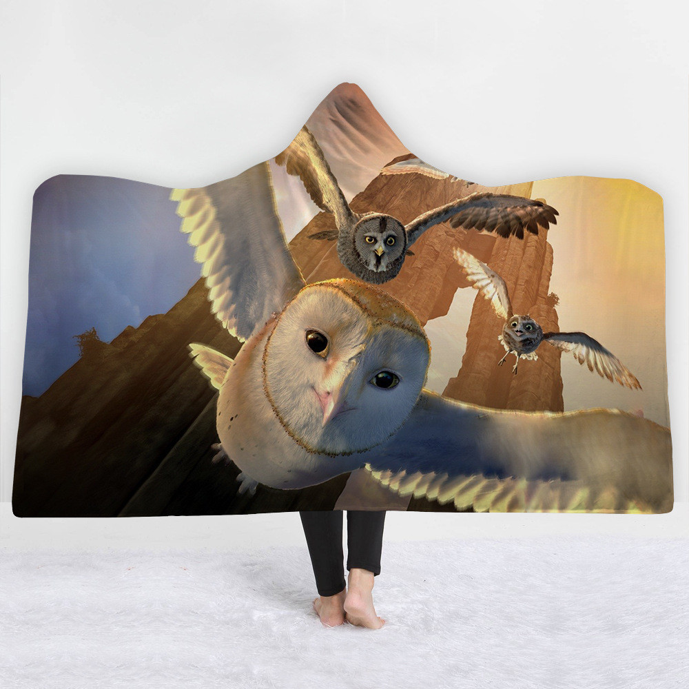 Owl-Printed-Hooded-Blanket-Coral-Fleece-Sherpa-Plush-High-Quality-Microfiber-Fabric-Throw-Blankets-Wearable-Travel (3)