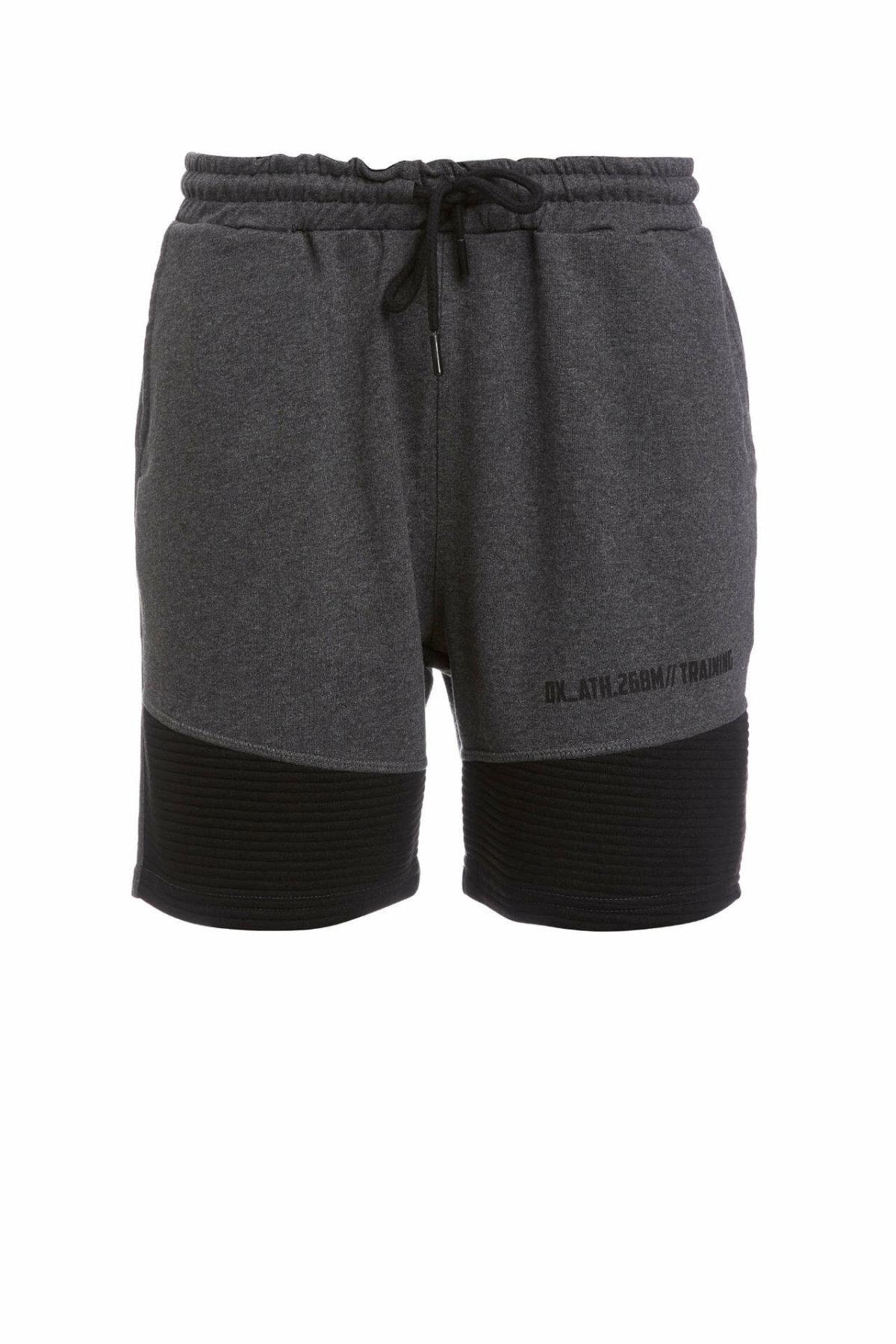 DeFacto Man's Casual Short Men's Dark Grey Short Bottoms Men's Summer Lace-up Shorts Men Short Pants-R2359AZ20SM
