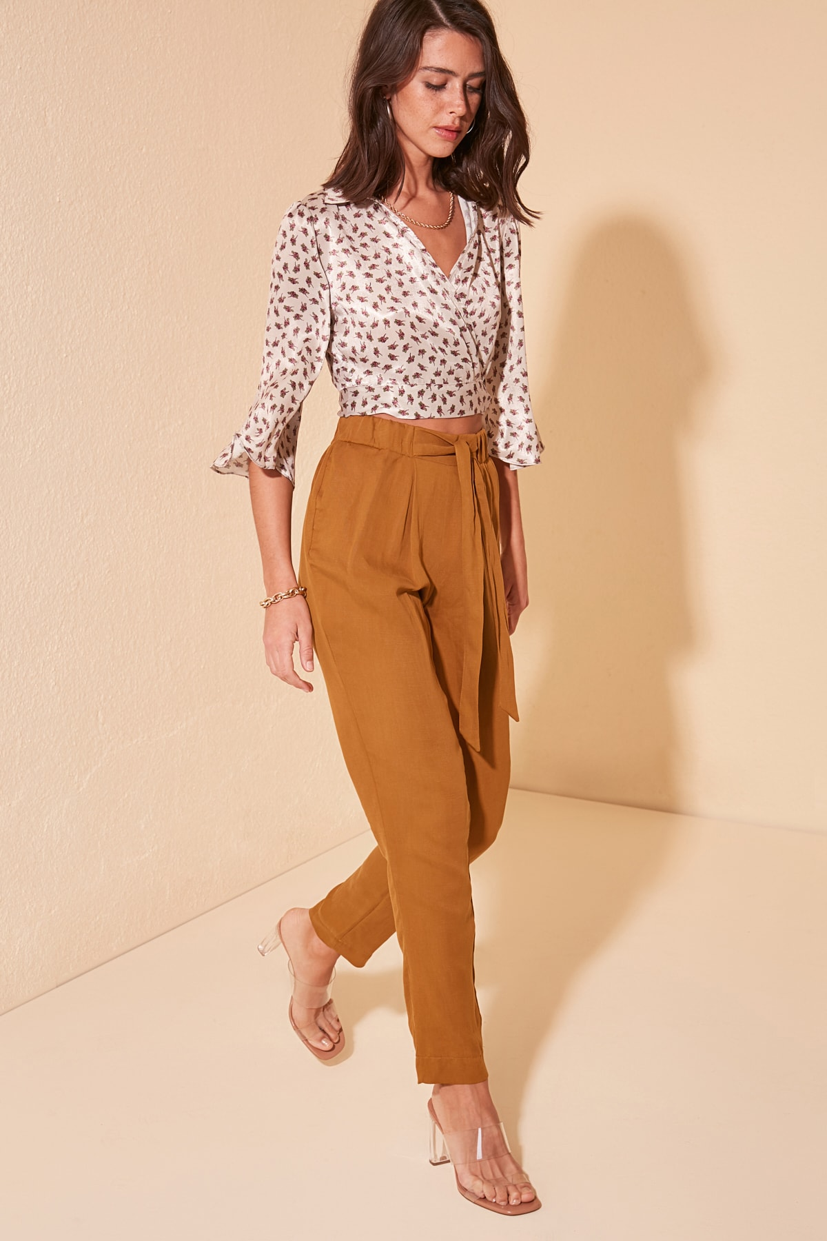 Trendyol Lacing Detailed Pants TWOSS20PL0403