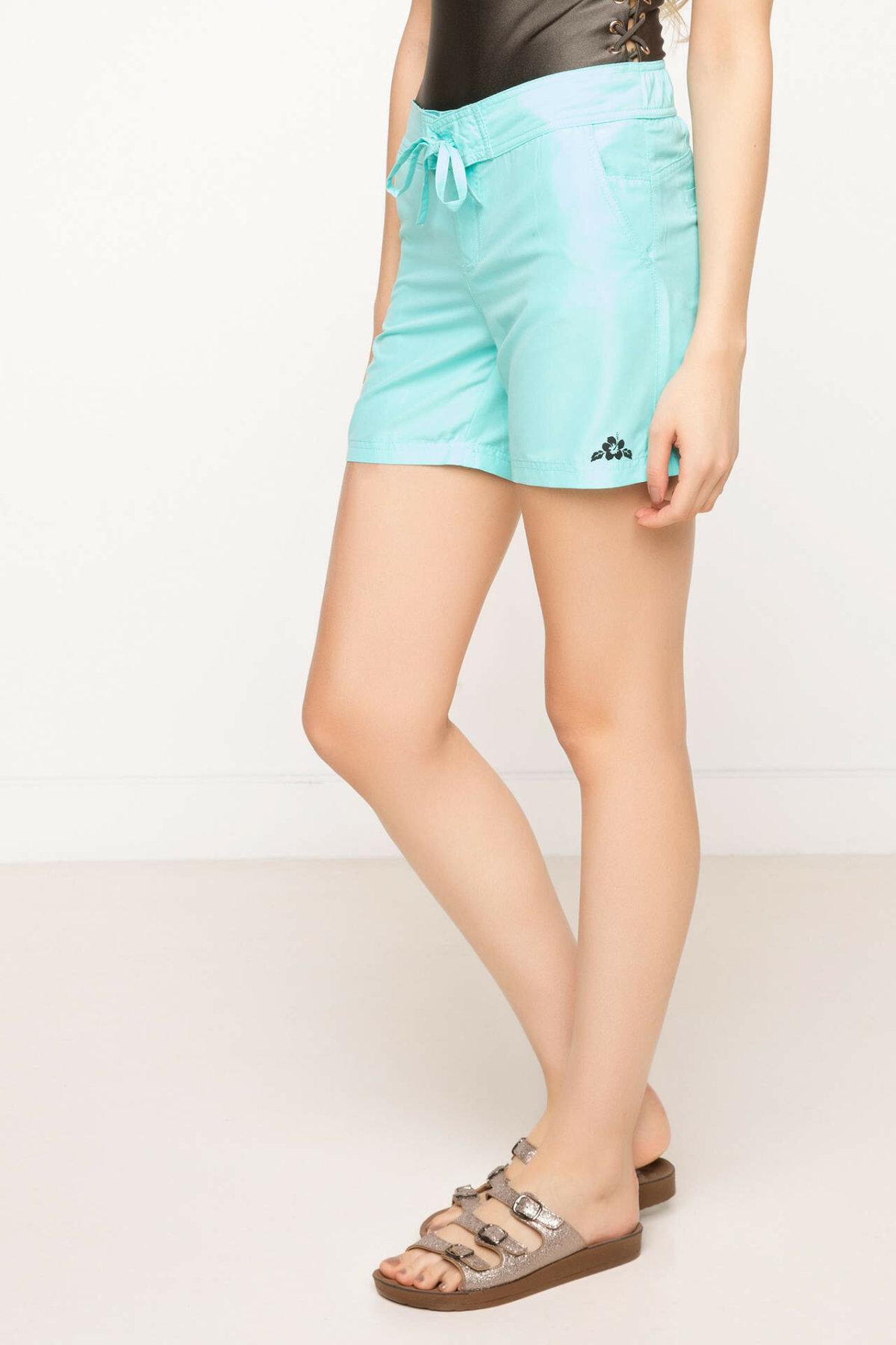 DeFacto Summer Woman Woven Swimming Short Female Casual Drawstring Shorts Ladies Pure Color Comfort Short Pants - G8560AZ17SM