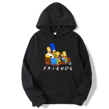 The simpsons Unisex hoodie Friends - Long Sleeve top For Men/Women