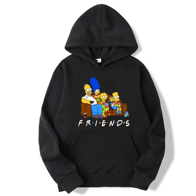 FUNNY FRIENDS SIMPSONS STYLE HOODIE (4 VARIAN)