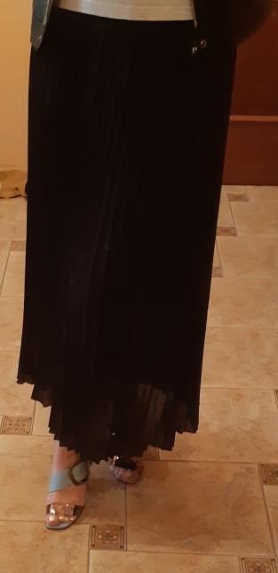 Chiffon Pleated Skirt High Waist Gorgeous Skirts Autumn Winter Midi Skirts For Women Spring Summer photo review