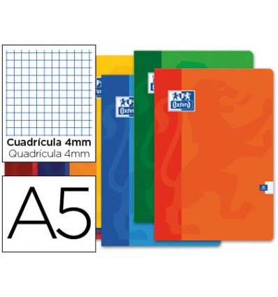 SCHOOL NOTEBOOK OXFORD 48 H DIN A5 TABLE 4 MM 10 PCs