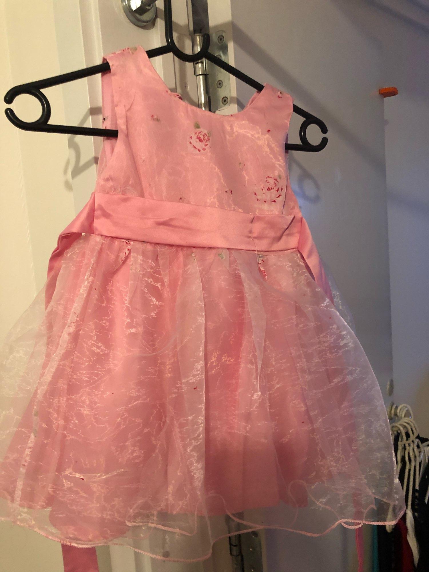 Retail Flower Dress Sashes Wedding Party Girl Dress Floral Print Baby Dress First Communion Kids Dresses Size: 100 150  L619|dress in|dress sizedresses communion dress - AliExpress