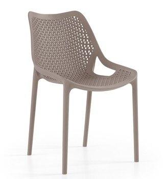 Chair BILL, stackable, polypropylene tórtora