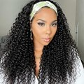 Brazilian Hair Wig With Headband Attached Glueless Remy Curly Headband Wig Human Hair For Black