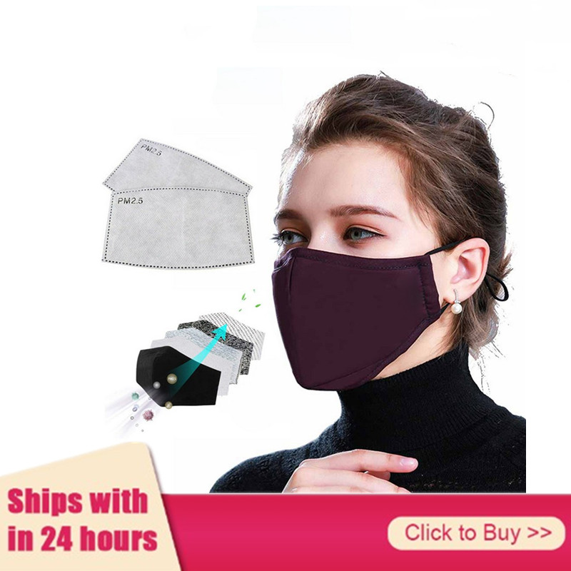 Mascarillas Mouth Mask 5 Layers Activated Carbon Filter Mouth Face Masks