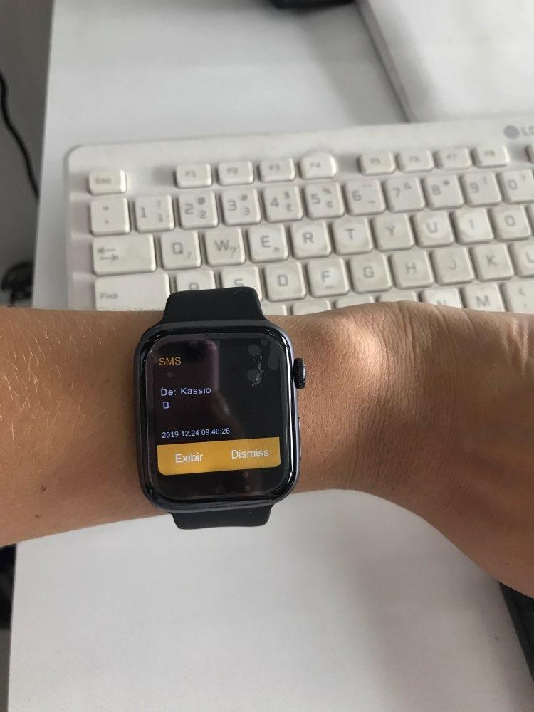 IWO8 Smartwatch+Earphone+Film/set 2019 IWO 8 MTK2502C Red Round Button 44MM Series 4 reloj deportivo hombre for iphone 6 7 X Smart Watches    - AliExpress