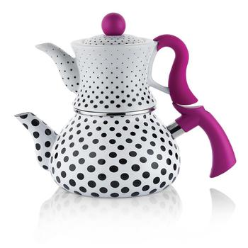 Schafer Zebra Teapot Set - Black Polka Dot | turkish tea | WATER HEATER | teapot | hot tea