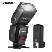 Andoer AD560 IV 2.4G Wireless On camera Slave Speedlite Flash Light GN50 + Trigger per Canon Nikon Sony fotocamere REFLEX Digitali