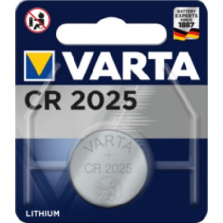 BUTTON BATTERY CR2025 3V LITHIUM VARTA