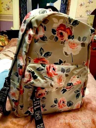 Школьный рюкзак FengDong, с цветами, для девочек-подростков