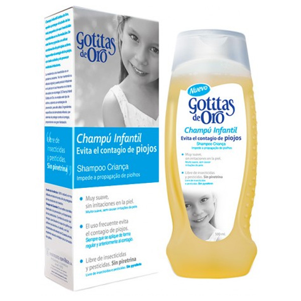Anti-Lice Shampoo Gotitas De Oro Instituto Español (500 Ml)