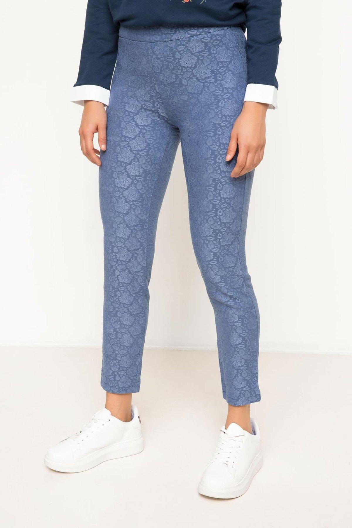 DeFacto Women Fashion High Waist Casual Women's Skinny Plaid Slim Trousers Ladies Leggings Leisure Crop Pants - H4296AZ17AU