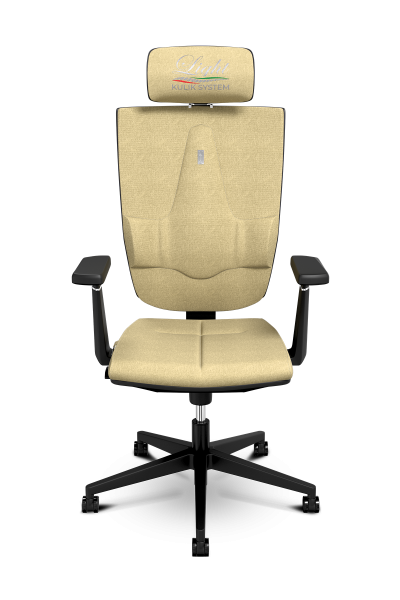 Office Chair KULIK SYSTEM SPACE Cream Computer Chair Relief And Comfort For The Back 5 Zones Control Spine