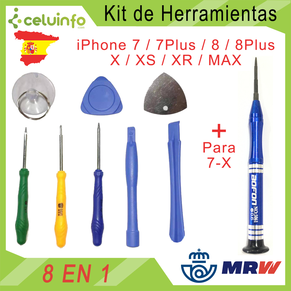 Opening's Kit Tools, Repair And Teardown Telephone And Tablet, Screwdrive, Tool Opening, Plectrum And Suction Cup