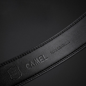 Image 4 - CAMEL Men Belt fashion Cow Genuine Leather Business Wild Casual Pin Buckle Belt Automatic Buckle Design Flexible Top Layer