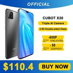 Cubot X20 AI Triple Camera задняя тройная камера 4 Гб + 64 Гб Смартфон 6,3 дюйма FHD + двухсторонний стеклянный корпус Google Android 9,0 мобильный телефон Face ID Cellura ...