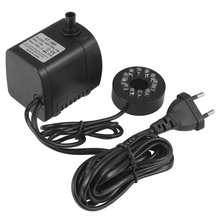 New AC 110-240V 15W US EU UK Plug Aquarium Water Pump Tank Ultra-Quiet Submersible Water Fountain Pump Filter Fish Pond Fountain 15w submersible water pump with led light for garden aquarium fish tank pond fountain pump