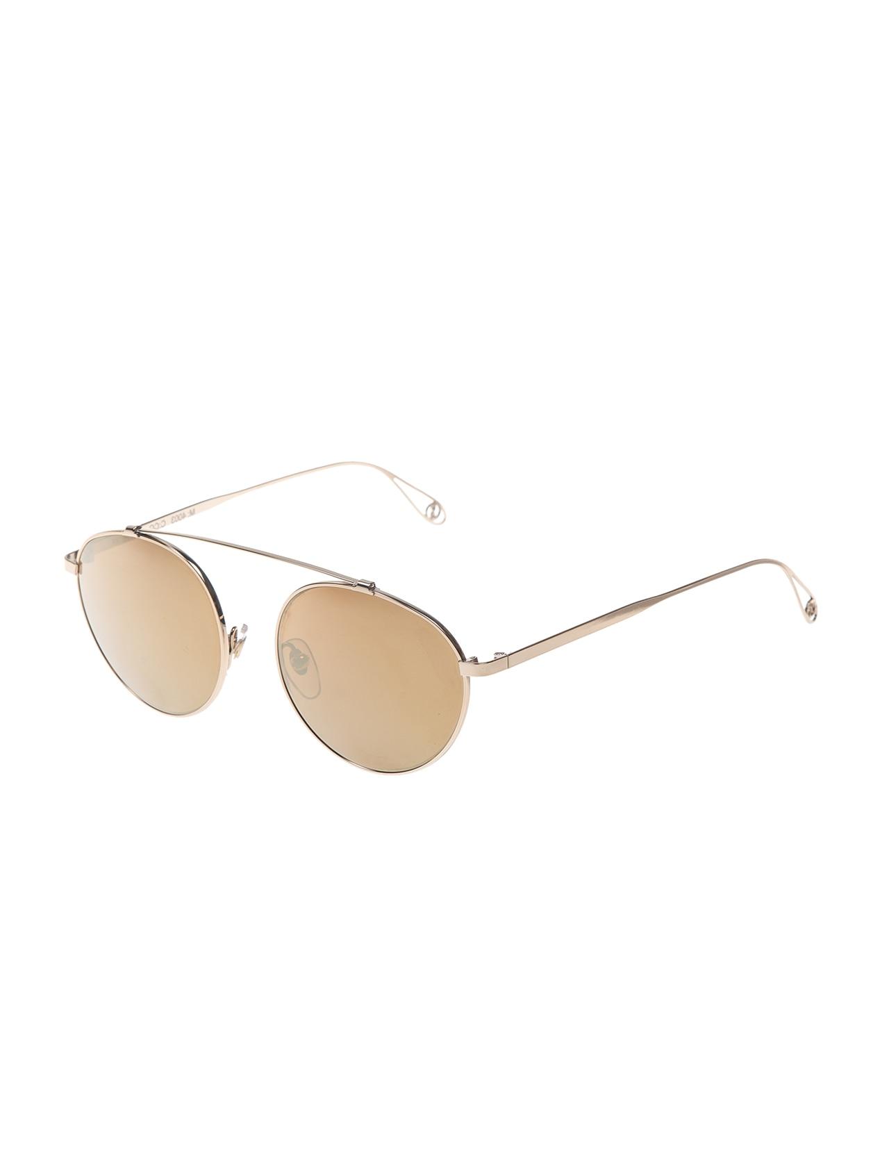 Unisex sunglasses msd 4003 cg metal yellow organic oval aval 52-16-140 massada