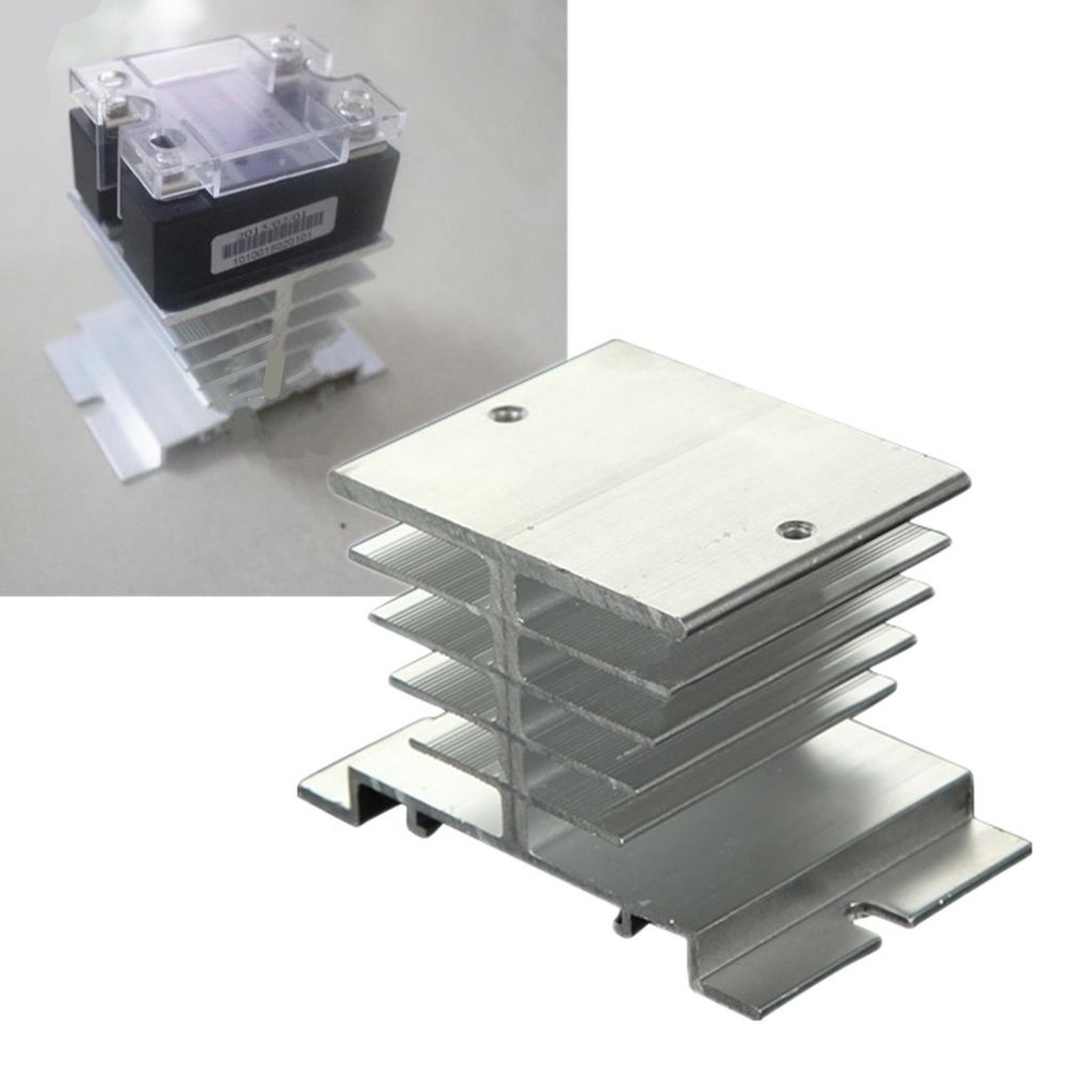 Heat Sink Aluminum Rele Solid State SSR 10 ~ 40A
