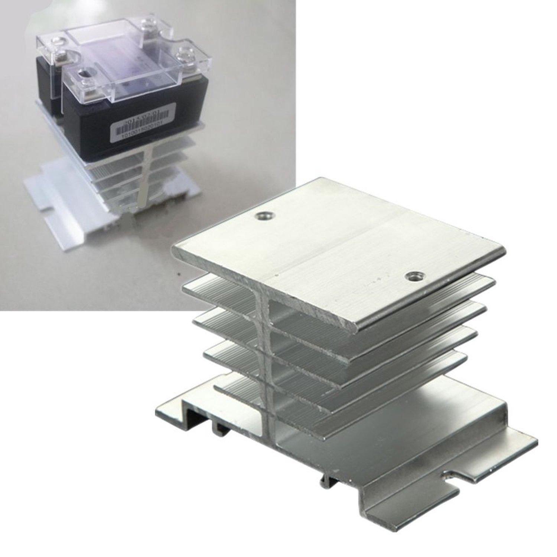 Heat Sink Aluminum Rele Solid State SSR 10 ~ 40A